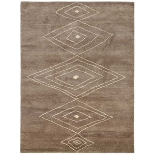 Nostalgia Geometric Pattern 5x8 Hand-Knotted Rug