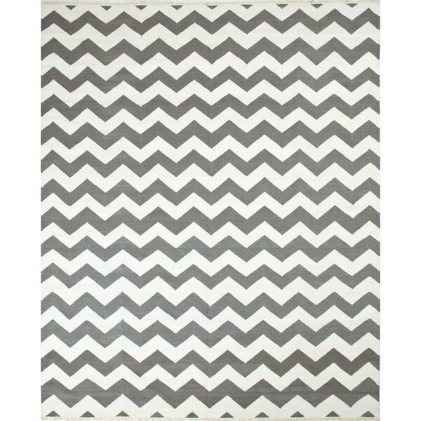 Spice Geometric Pattern 3x5 Flat-Weave Rug