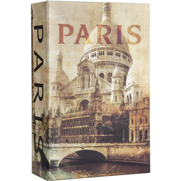 Paris Book Lock Box with Combination Lock