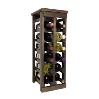 El Mar Furnishings 12 Bottle Classic Wood Wine Rack