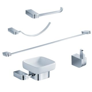 Fresca Solido 5-piece Chrome Bathroom Accessory Set