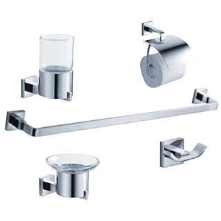 Fresca Glorioso 5-piece Chrome Bathroom Accessory Set