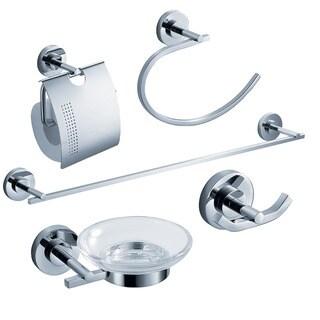 Fresca Alzato 5-piece Chrome Bathroom Accessory Set