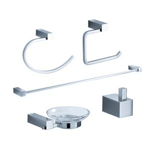 Fresca Ottimo 5-piece Chrome Bathroom Accessory Set