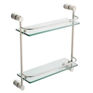 Fresca Magnifico 2-tier Brushed Nickel Glass Shelf