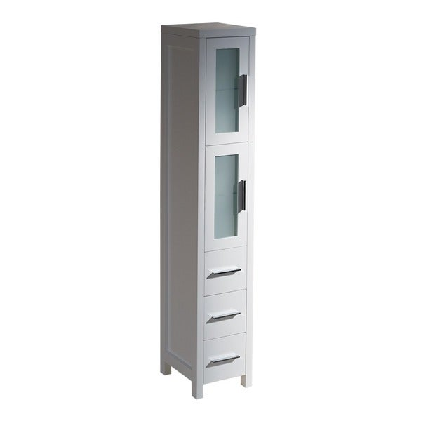 fresca torino white tall bathroom linen side cabinet 17144731