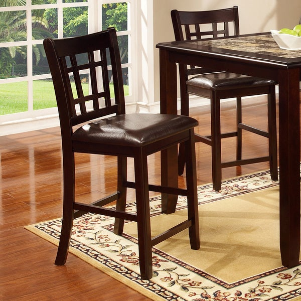Espresso Counter Height Stool (Pack of 2)