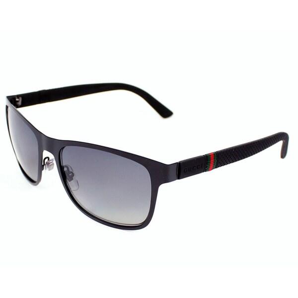 Gucci Men's 2247/S Metal Rectangular Polarized Sunglasses