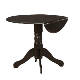 Espresso Round Drop Leaf Table