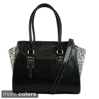 Emilie M Morgan Satchel w/Detachable Shoulder Strap