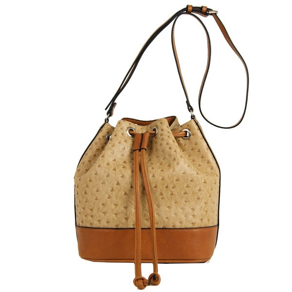 Emilie M Jane Drawstring Bucket Hobo