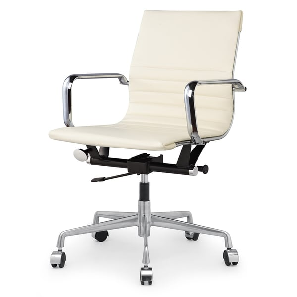 Dix Office Chair In Cream Vegan Leather