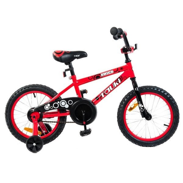 Tauki AMIGO 16-inch Kid Bike With Removable Training Wheels, Coaster Brake