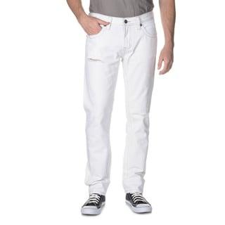Seven7Jeans Men's Contrast Stitch Destruction Skinny Jean
