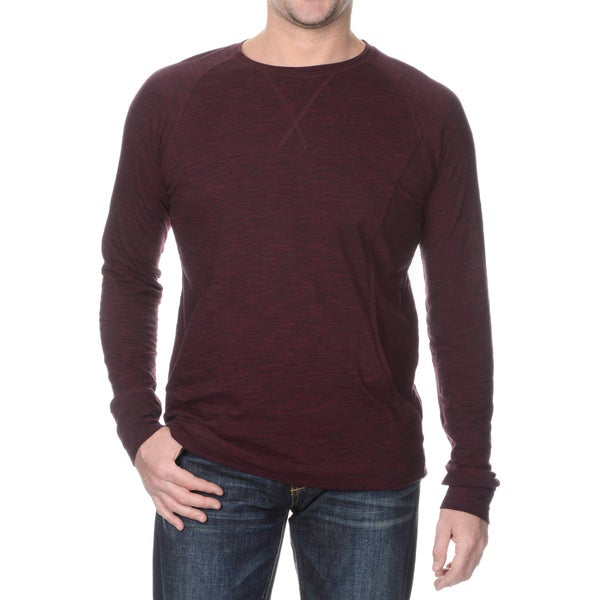 Seven7 Men's Long Sleeve Pouch Pocket Crew Neck