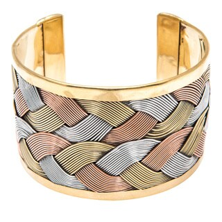 Waheeda' Tri-color Woven Cuff (India)