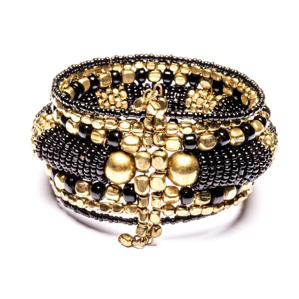 Candia' Seed Bead Cuff Bracelet (India)