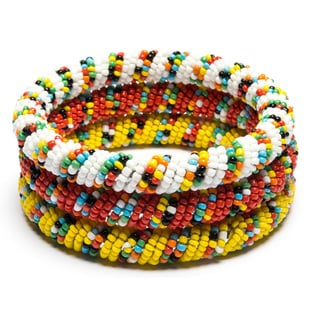 Set of 3 Seed Bead Bangle (India)