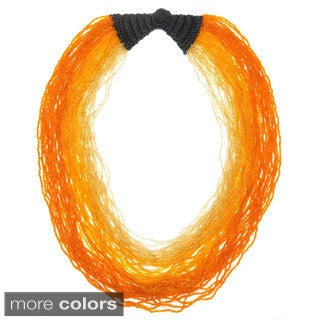 Abhati Ombre Seed Bead Necklace (India)