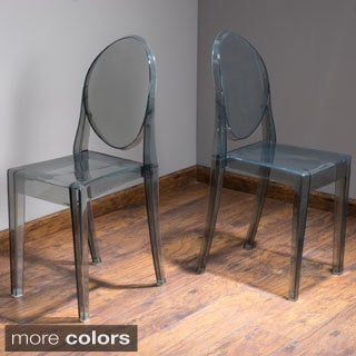 Christopher Knight Home Olympic Transparent PC Side Chair (Set of 2)