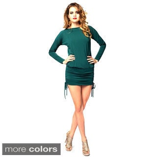 Sara Boo Sequin Strap Open V-back Dress