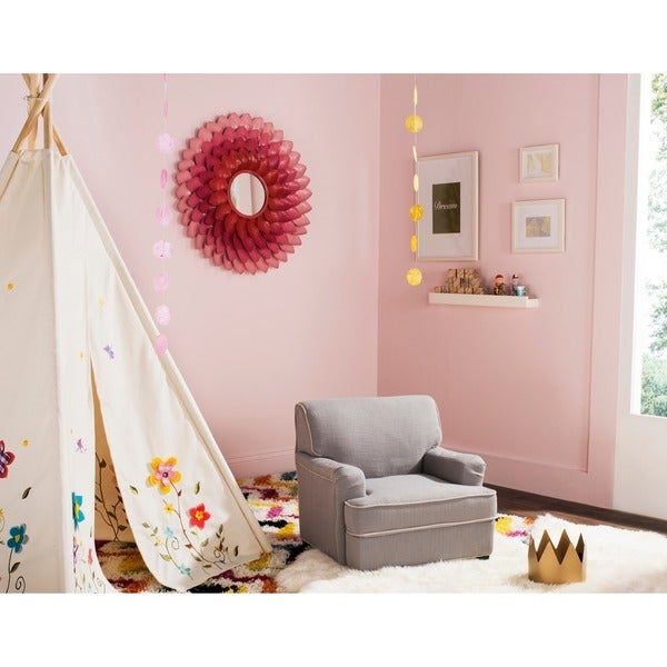 Safavieh Kids Moppett Grey and Taupe Childrens Club Chair