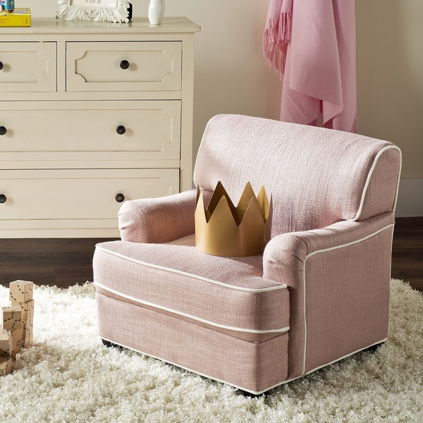 Safavieh Kids Moppett Pink and White Childrens Club Chair
