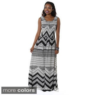 Hadari Women's Contemporary Casual Printed Sleeveless Maxi Dres