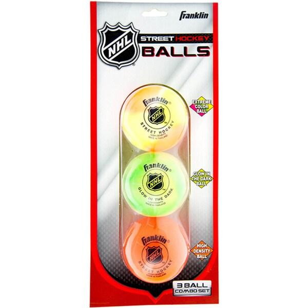Franklin Sports NHL Street Hockey Ball Combo 3-Pack
