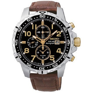 Seiko Men's SSC309 Stainless Steel Solar Alarm Chronograph Watch