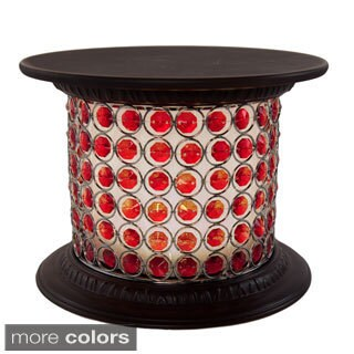 """River of Goods Red Wireless Crystal Decorative Centerpiece Pedestal """"Bling for Your Fling"""" with Remote Control"""