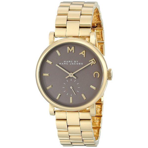 Marc Jacobs Women's MBM3281 Baker Round Goldtone Bracelet Watch