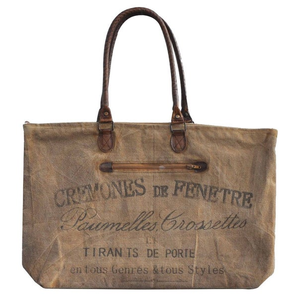 Colette Vintage Recycled Canvas Carryall Bag