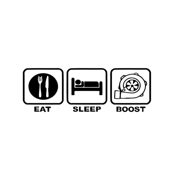 Eat Sleep Boost Sticker Vinyl Wall Art