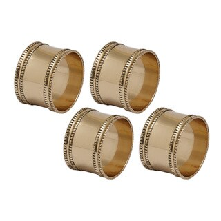 Antique Goldtone Brass Napkin Ring (Set of 4)