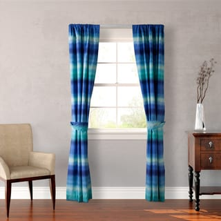Teen Vogue Electric Beach Blue 4-Piece Window Panel Set