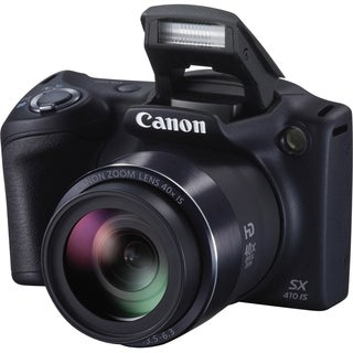 Canon PowerShot SX410 IS 20 Megapixel Compact Camera - Black