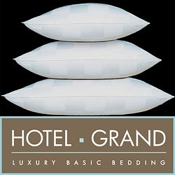 Hotel Grand Italian Check 1000 Thread Count Siberian White Down Pillow