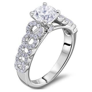 Scott Kay 14k White Gold 2/5ct TDW Diamond Semi Mount Engagement Ring (G-H, VS2)