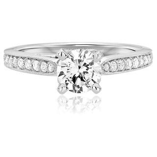 Scott Kay 14k White Gold 1/5ct TDW Diamond Semi Mount Engagement Ring (G-H, VS2)