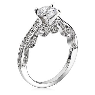Scott Kay 14k White Gold 1/4ct TDW Diamond Semi Mount Engagement Ring (G-H, VS2)