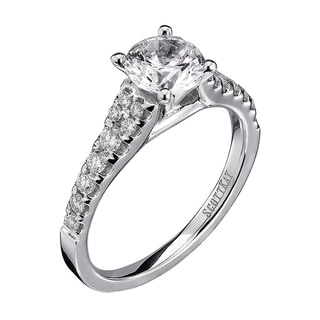 Scott Kay 14k White Gold 1/3ct TDW Diamond Semi Mount Engagement Ring (G-H, VS2)