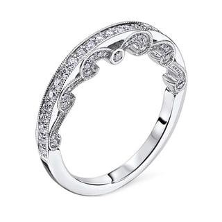 Scott Kay 14k White Gold 2/5ct TDW Diamond Wedding Band (G-H, VS2)