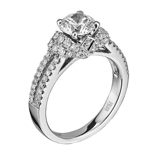 Scott Kay 14k White Gold 3/5ct TDW Diamond Semi Mount Engagement Ring (G-H, VS2)