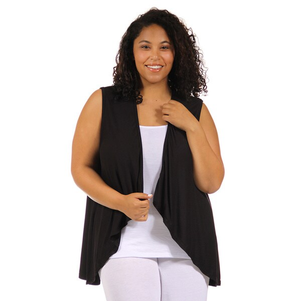 24/7 Comfort Apparel Women's Plus Size Sleeveless Shrug 15087854