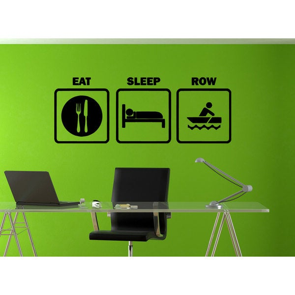 Eat Sleep Row Sticker Vinyl Wall Art