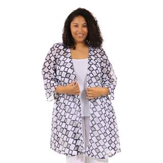 24/7 Comfort Apparel Women's Plus Size 3/4 Sleeve Layering Shrug
