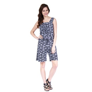 24/7 Comfort Apparel Women's Tank and Short Jumpsuit