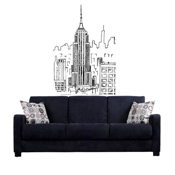 Empire state building New York City Sticker Vinyl Wall Art