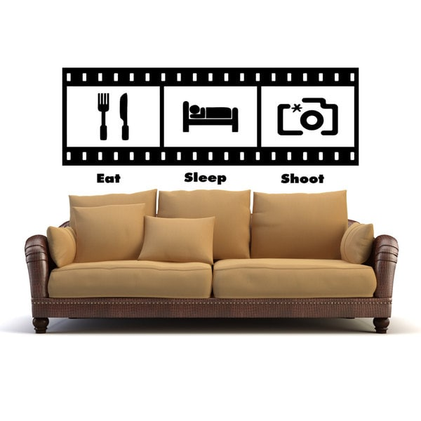 Eat Sleep Shoot Photos Sticker Vinyl Wall Art
